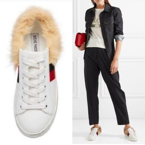 New Steve Madden Faux Fur Sneakers